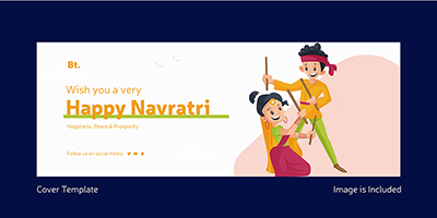 Wish you a very happy Navratri with facebook cover page design