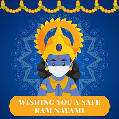 Wishing you safe Ram Navami with social media banner