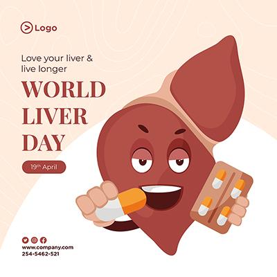 World liver day medical diagnosis concept banner design