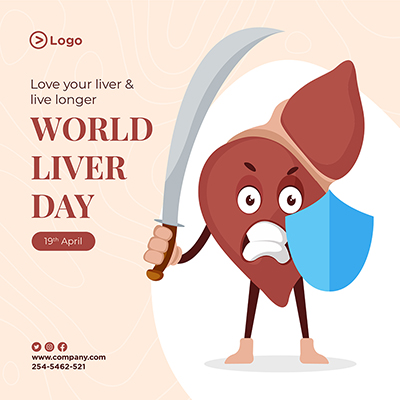 World liver day protection with social media banner template