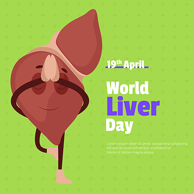 World liver day with a banner design template concept