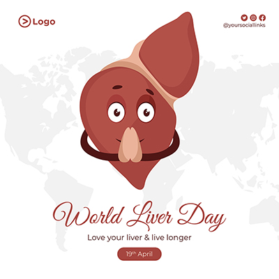 World liver day with banner template design illustration