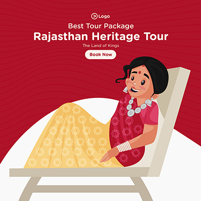 Banner design for Rajasthan heritage tour best tour packages 06 small