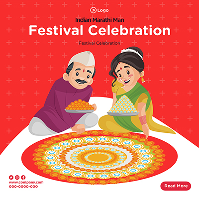 Banner design for festival celebration