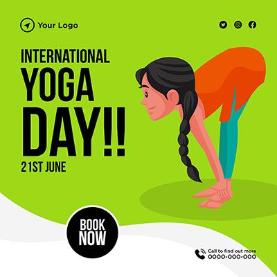 Banner design for international yoga day on 21st june -05 small