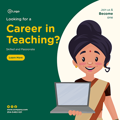 Banner design for looking for a career in teaching