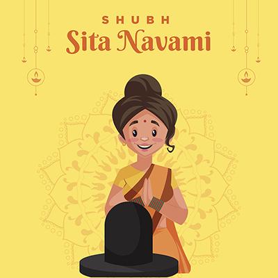 Banner design for shubh Sita navami