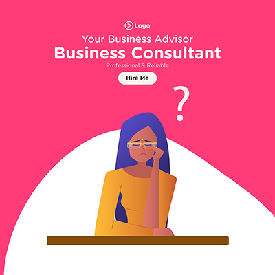 Banner design for your business advisor and business consultant