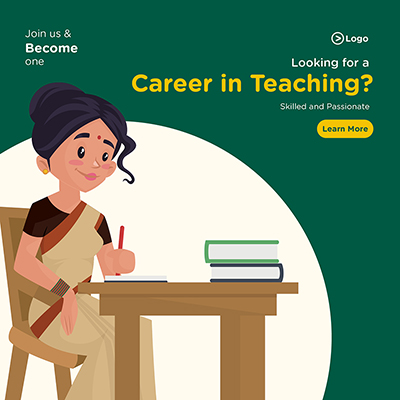 Banner design looking for a career in teaching skilled and passionate