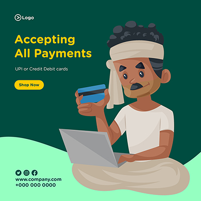 Banner design of accepting all payments