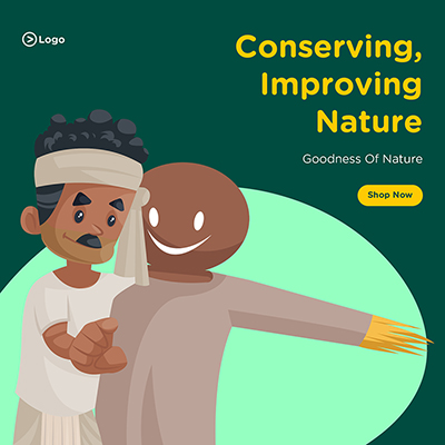 Banner design of conserving and improving nature