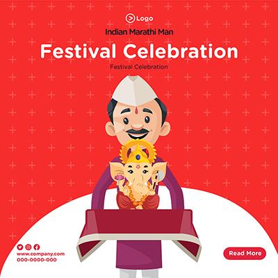 Banner design of festival celebration template