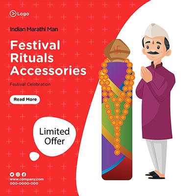 Banner design of festival rituals celebration