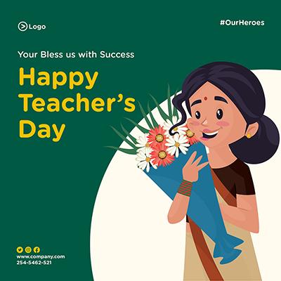 Banner design of happy teacher's day