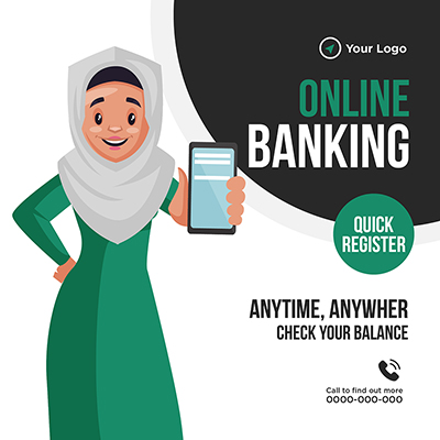 Banner design of online banking quick register-07 small
