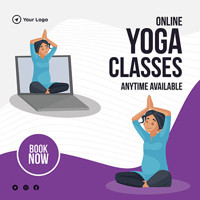 Banner design online yoga classes anytime available-16 small