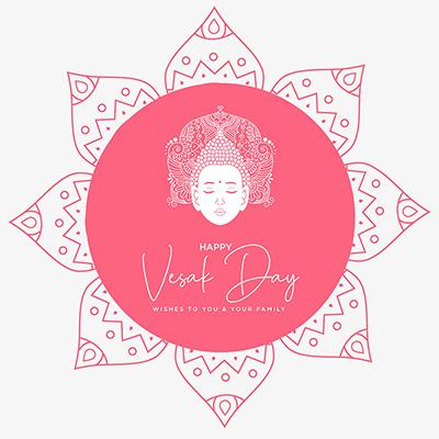 Banner design template for happy vesak day illustration
