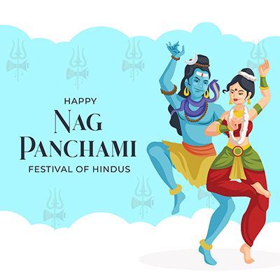 Banner design template of happy nag panchami festival of hindus-09 small