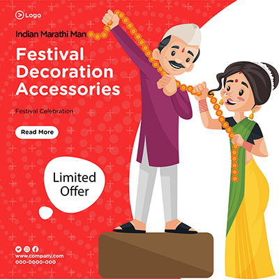 Banner for festival decoration accessories