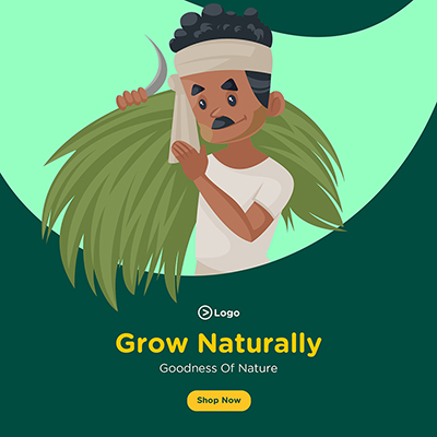 Banner for grow naturally with goodness of nature