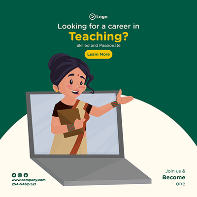 Banner for looking for a career in teaching