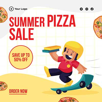 Banner for summer pizza sale order now -05 small