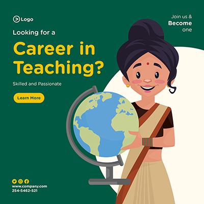 Banner of looking for a career in teaching skilled and passionate