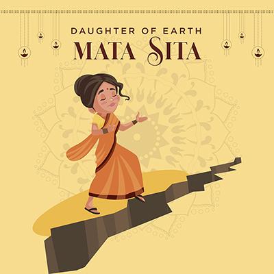 Banner of mata Sita daughter of earth