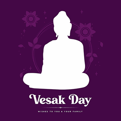 Banner of vesak day wishes to you and your family