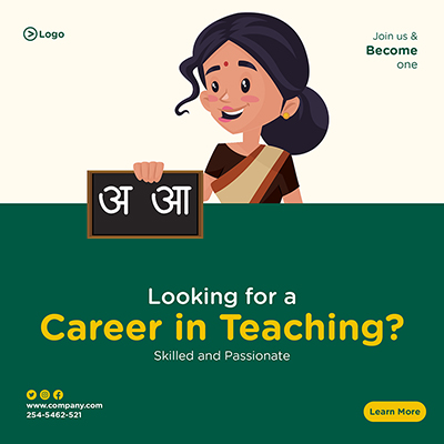Banner template of looking for a career in teaching
