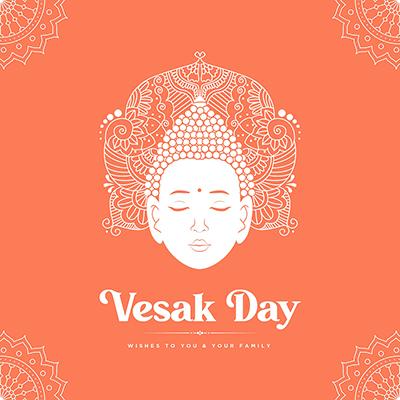 Banner template vesak day festival illustration
