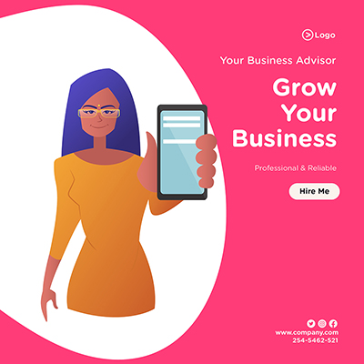 Banner design template for grow your business