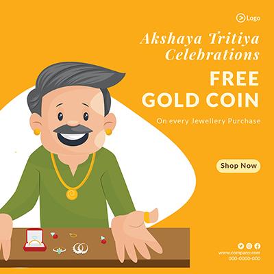 Free gold coin on purchase akshaya tritiya banner -13 small