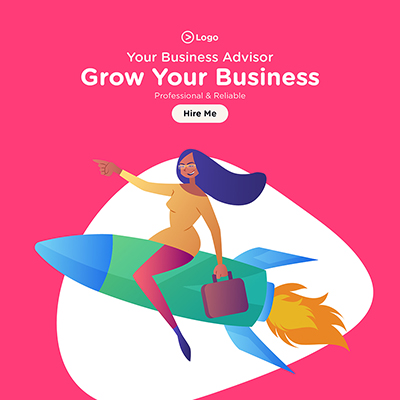 Grow your business social media banner template