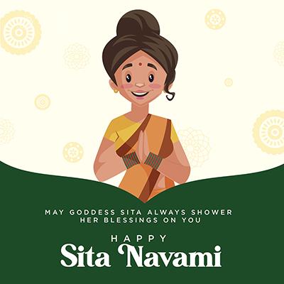 Happy Sita navami banner design template -17 small