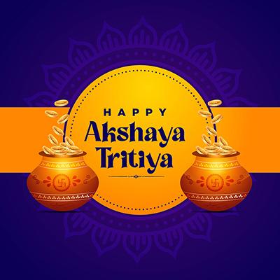 Happy akshaya tritiya religious worship day banner