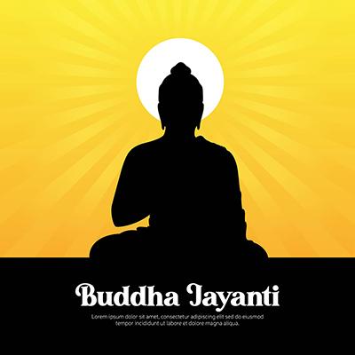 Buddha jayanti festival illustration banner template