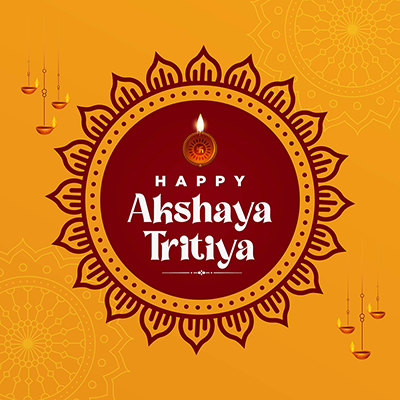 Hindu festival happy akshaya tritiya banner