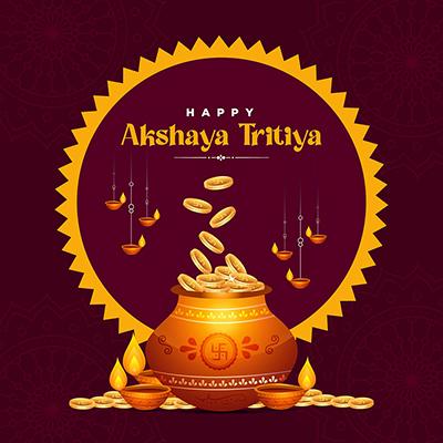 Hindu festival happy akshaya tritiya banner design