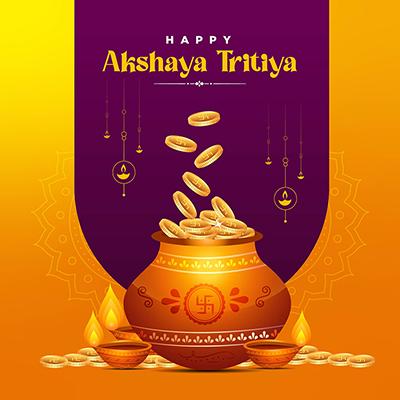 Hindu festival happy akshaya tritiya banner template