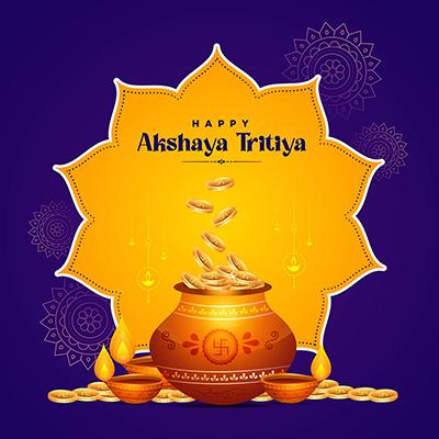 Hindu festival happy akshaya tritiya banner template design