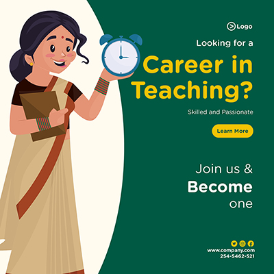 Looking for a career in teaching banner design
