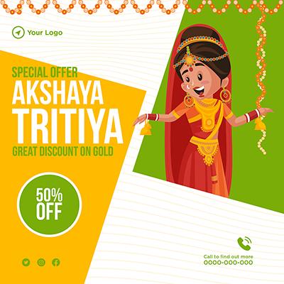 Special offer on akshaya tritiya festival with a banner