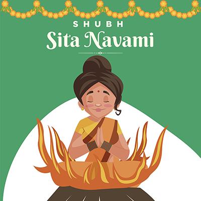Subh Sita navami social media banner design