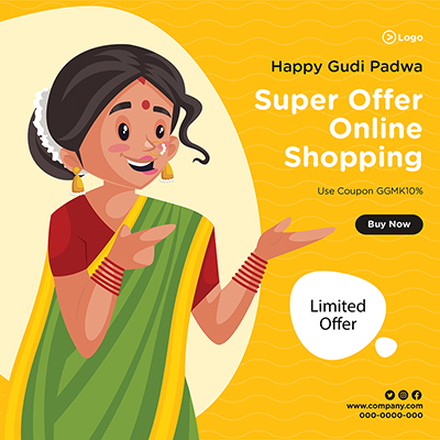 Banner design for online shopping with super offers