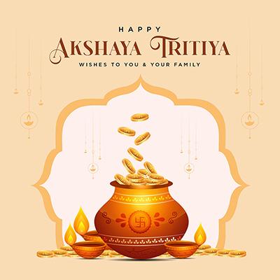 Traditional festival happy akshaya tritiya banner
