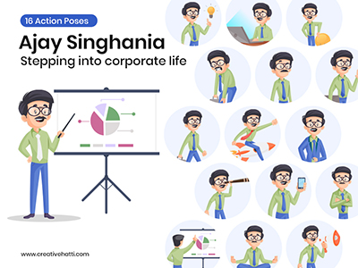 Ajay singhania- stepping into corporate life vector -small
