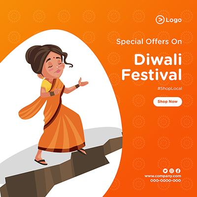 Banner design for Diwali festival