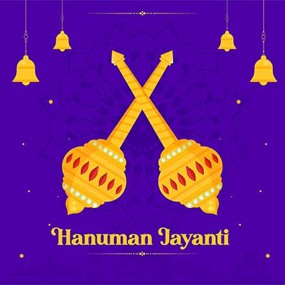 Banner design of hanuman jayanti template