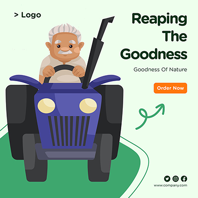 Banner design of reaping the goodness